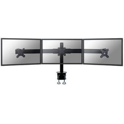 "Image de Newstar Desk Mount 3xScreen 10-27"" Clamp BLACK"