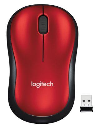 Image de Logitech Wireless Mouse M185 Red EWR2